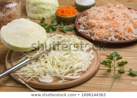 белый · капуста · кислая · капуста · продовольствие · обеда - Сток-фото © digifoodstock