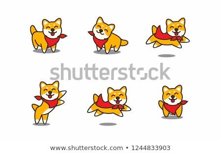 улыбаясь · ребенка · играет · ПЭТ · собака - Сток-фото © Loud-Mango