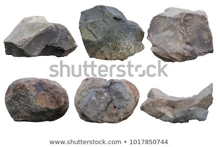 kaya · taş · ayarlamak · karikatür · taşlar · kayalar - stok fotoğraf © andrei_