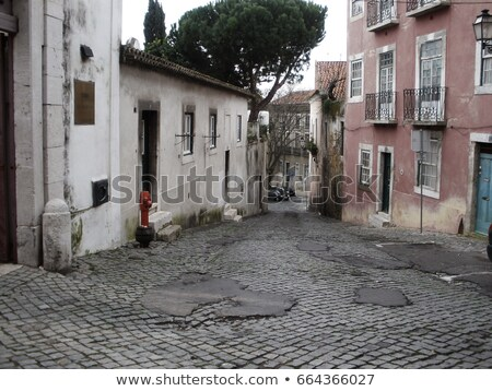 Abandoned residential building/alley in Lisbon stock photo © luissantos84