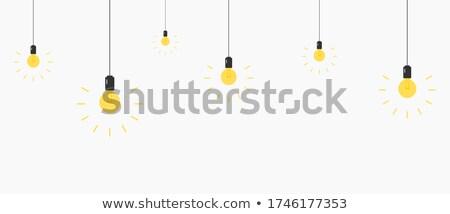 conjunto · lâmpadas · realista · vetor · isolado · clip-art - foto stock © kup1984