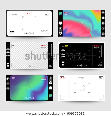 Camera Viewfinder Vector. Modern Interface Concept For Touch Devices Stock photo © pikepicture