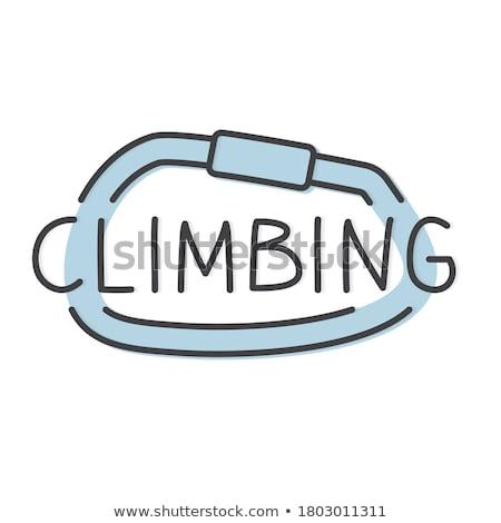 Blue Carabiner Hook with Text Mountaineering. Stock photo © tashatuvango