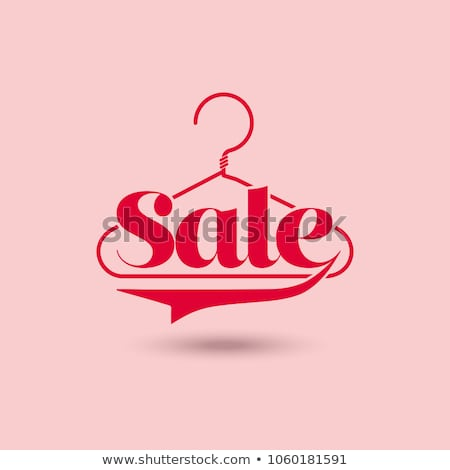 Colorful sale concept illustration. Hanger and word 'Sale' Stock photo © pashabo