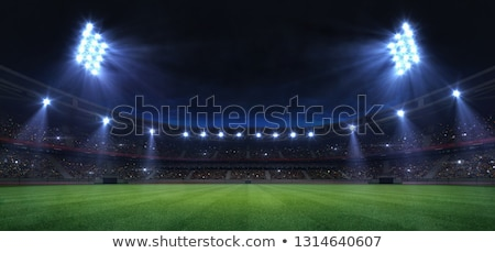 Digitale afbeelding verlicht stadion rook sport Stockfoto © wavebreak_media