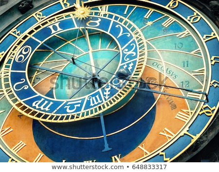astronomical clock or orloj of the old town hall in prague stock photo © tuulijumala