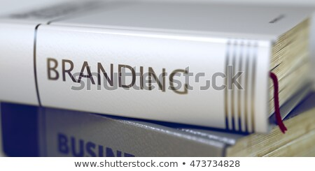 Brand. Book Title on the Spine. 3D Rendering. Stock photo © tashatuvango