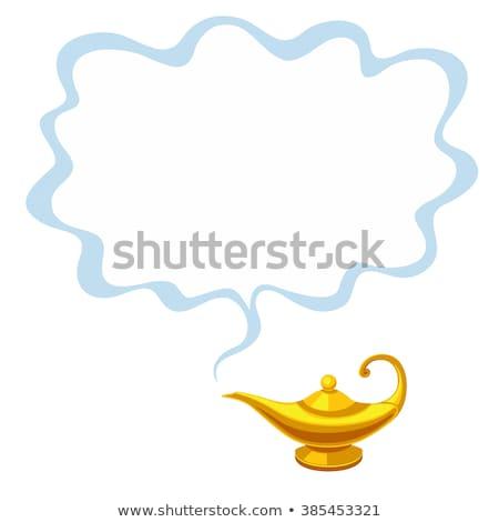 Dorado magia lámpara ilustración metal antigua Foto stock © adrenalina