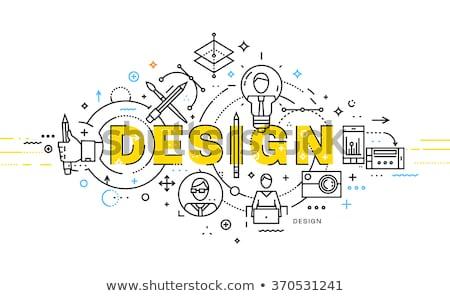 тонкий линия дизайна служба бизнеса Финансы Сток-фото © Genestro