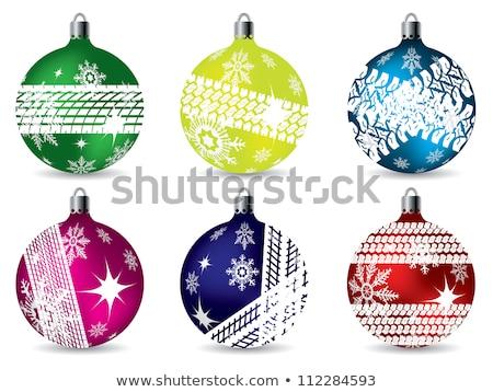 Ball with Tread Christmas Icon Vector Illustration Stock photo © robuart