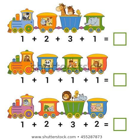 counting cartoon cats and dogs educational game Stock photo © izakowski