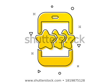 Stock photo: star rating feedback geometric symbol