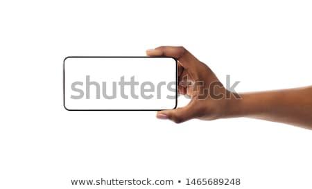 mains · écran · tactile · smartphones · applications · un · message - photo stock © dejanj01