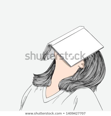 Cartoon bloem vervelen illustratie grafische Stockfoto © cthoman