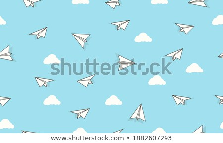 Vacation background with scattered summer icons Stock photo © SwillSkill