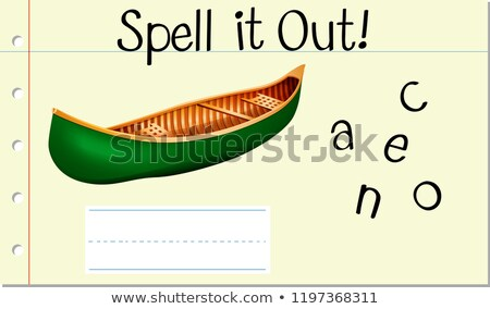 Spell it out canoe Stock photo © bluering