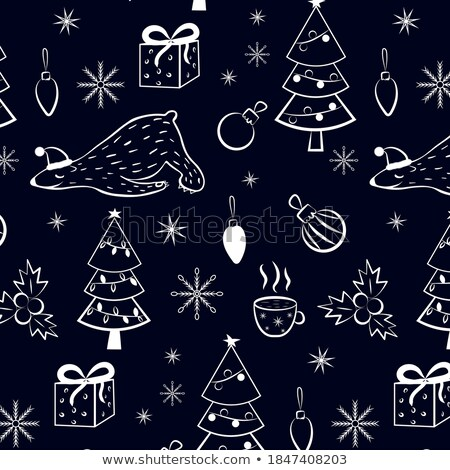 vidám · karácsony · illusztráció · fehér · díszítő · labda - stock fotó © articular