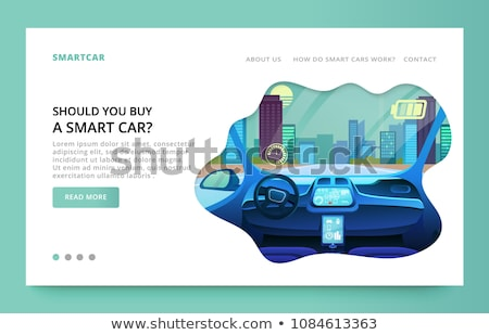 Stock photo: Eco battery concept landing page.