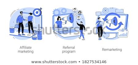 Stratégia menedzser specialista megcélzott reklámok digitális Stock fotó © RAStudio