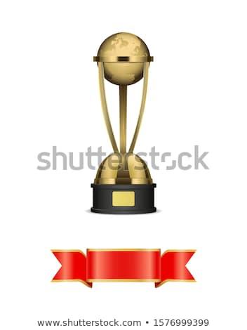 Trófea csésze selyem fényes szalag arany Stock fotó © robuart