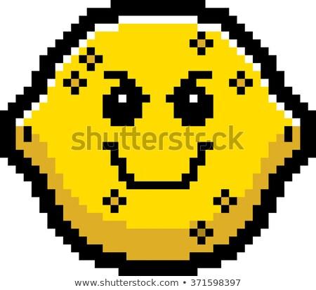 Kwaad cartoon citroen illustratie naar stijl Stockfoto © cthoman