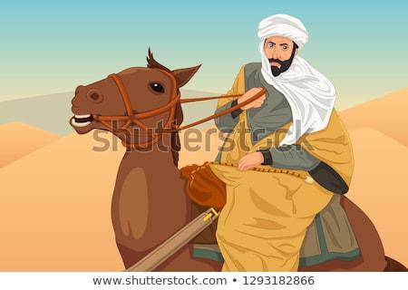 lovaglás · ló · illusztráció · nő · lány · sport - stock fotó © artisticco