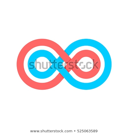abstract knot red icon logo vector stock photo © blaskorizov