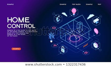 vektör · akıllı · ev · izometrik · ev - stok fotoğraf © tele52
