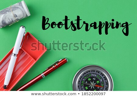 Stock photo: Compass On White Background Startup Concept