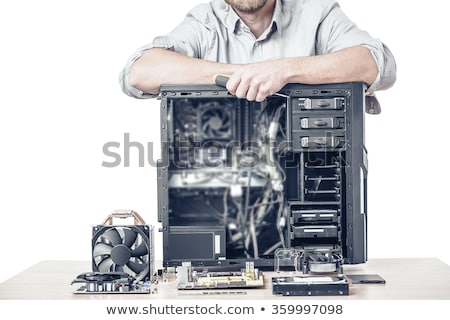 Disassembled computer on a desk Stock photo © serg64