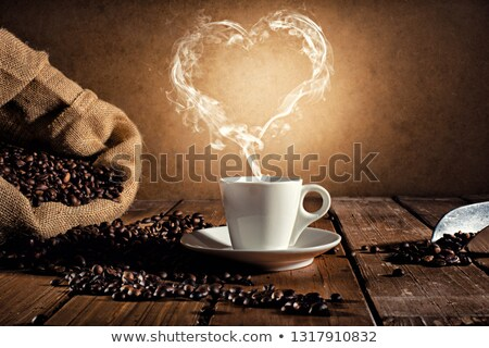 Coffee cup with a smoke shaped as an hearth Stock photo © alphaspirit