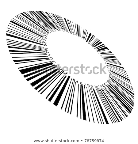 Abstract circular bar code Stock photo © dvarg