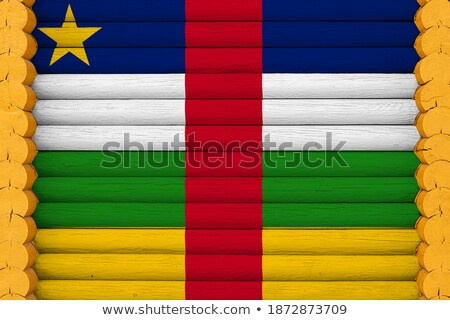 House with flag of central african republic Stock photo © MikhailMishchenko