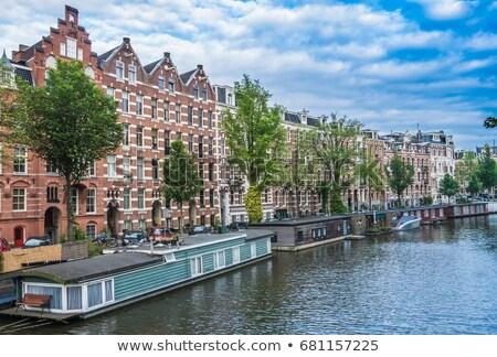 Kanaal ring Amsterdam lentebloemen bloemen Stockfoto © neirfy