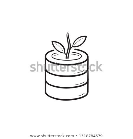 Veritabanı büyüyen bitki karalama Stok fotoğraf © RAStudio