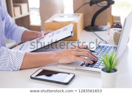 Empresário compras proprietário verificar ordem lista Foto stock © snowing