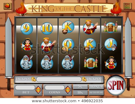 Stockfoto: Spel · sjabloon · koning · koningin · illustratie · kunst