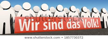 tömeg · demonstráció · leszállás · oldal · pici · emberek - stock fotó © rastudio