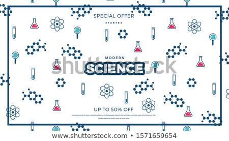 absztrakt · mértani · orvostudomány · orvosi · háttér · kék - stock fotó © cienpies