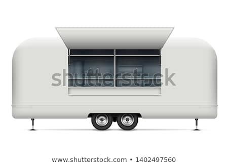 Klasyczny biały van wektora starych Zdjęcia stock © YuriSchmidt