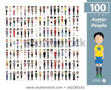 Szett különböző betűk illusztráció gyerekek gyermek Stock fotó © colematt