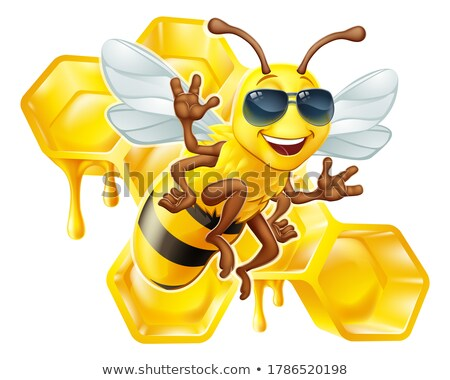 Bumblebee Waving With Honey Drawing Stock photo © patrimonio
