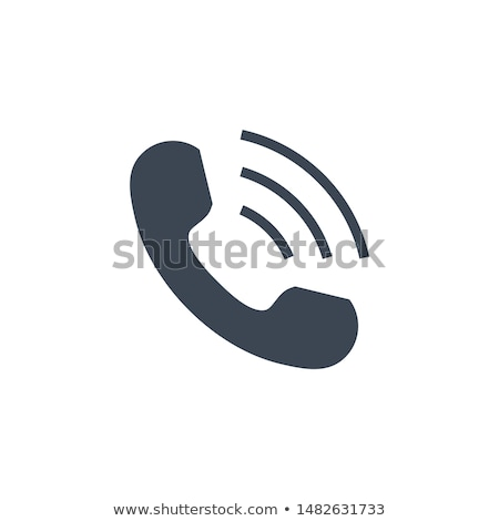 Handset related vector glyph icon. Stock photo © smoki