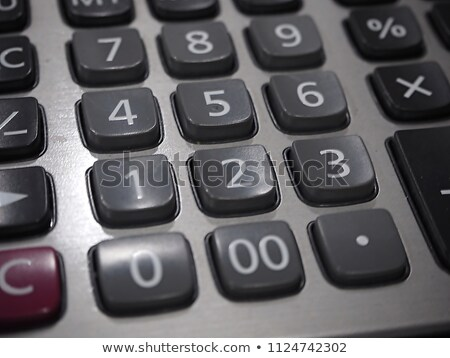 Close up of  button on business white calculator, selective focu Stock photo © Freedomz