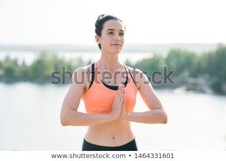 Içerik yoga koç Öğrenciler enerjik spor Stok fotoğraf © pressmaster