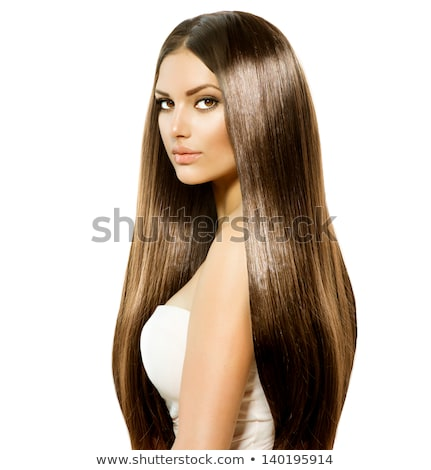 Portrait of a gorgeous brunette woman with smooth and healthy sk Stock photo © serdechny