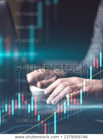 Businessman using computer to analyse the investment. Stock photo © ijeab