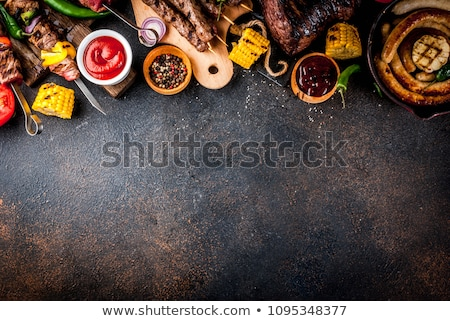 various barbecued sausages Stock photo © prill