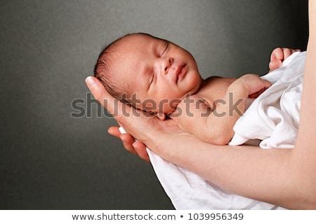 nackt · Baby · cute · rot · Mädchen · Gesicht - stock foto © lichtmeister