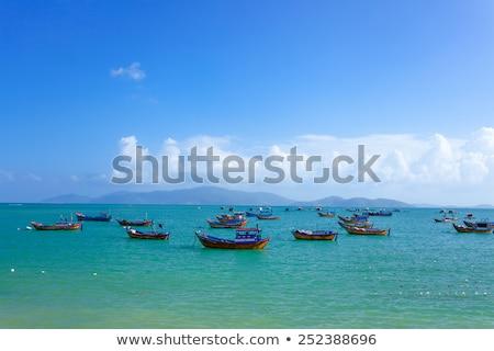 Pêche bateaux marina plage nature paysage Photo stock © galitskaya